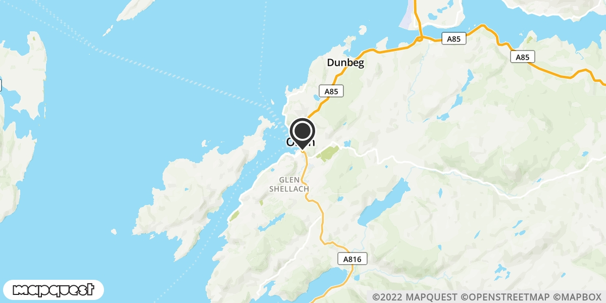 local map of watch repair drop off points in Oban, Argyll | Repairs by Post