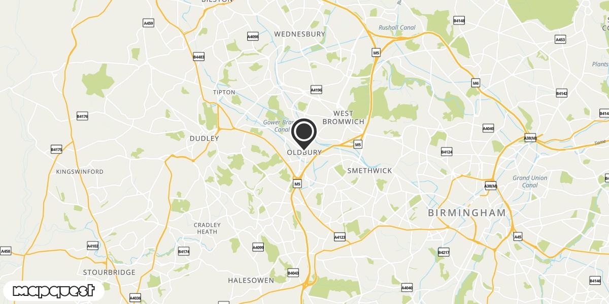 local map of watch repair drop off points in Oldbury, West Midlands | Repairs by Post
