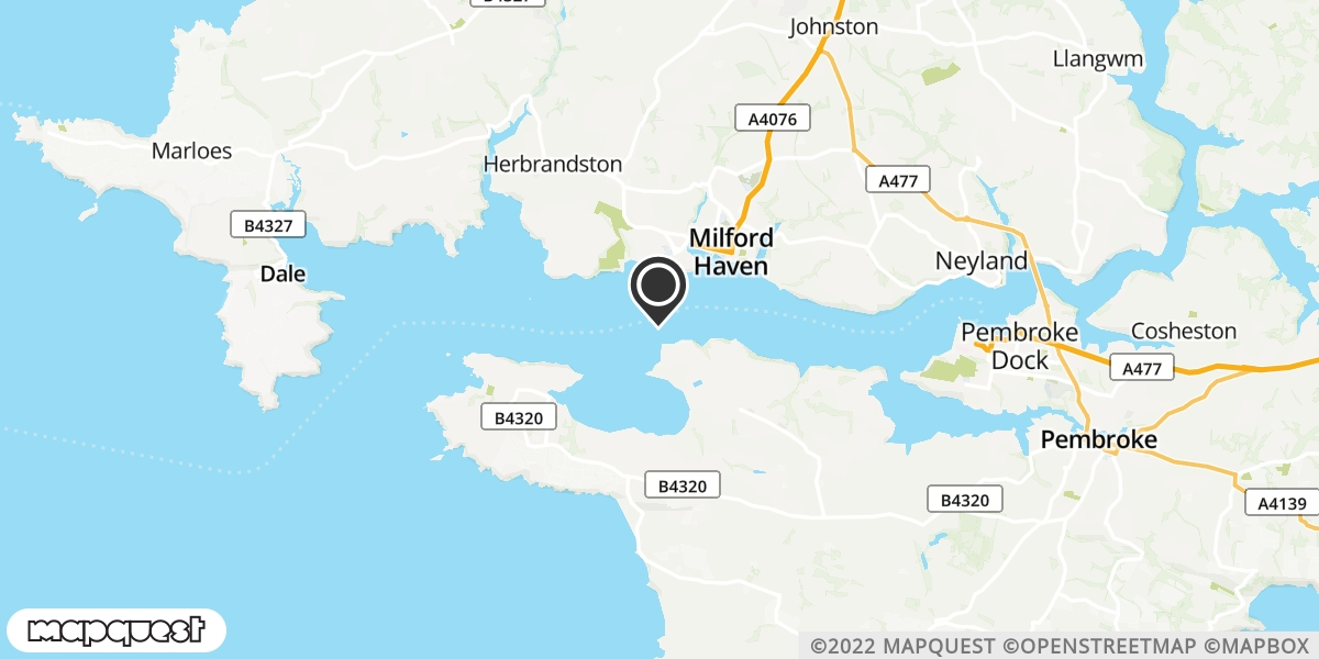 local map of watch repair drop off points in Pembroke Dock, Dyfed | Repairs by Post