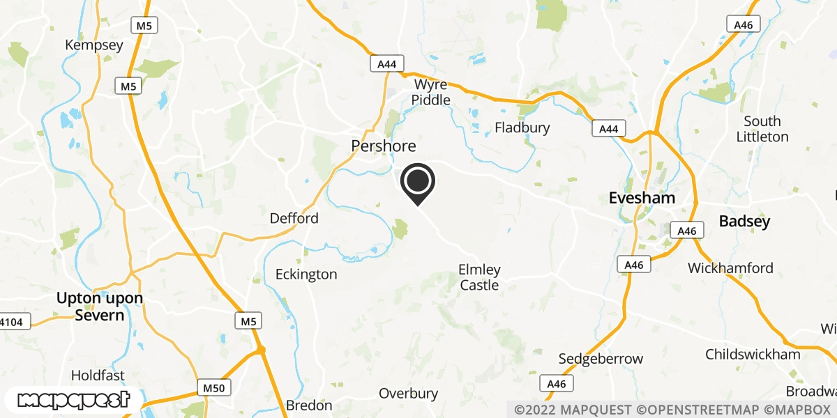 local map of watch repair drop off points in Pershore, Worcestershire | Repairs by Post