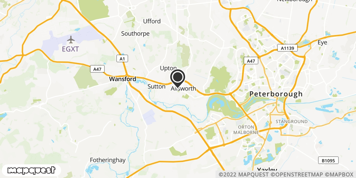 local map of watch repair drop off points in Peterborough, Cambridgeshire | Repairs by Post