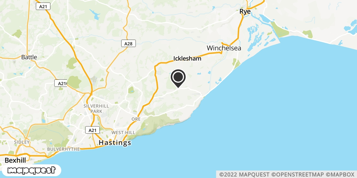 local map of watch repair drop off points in Pett, East Sussex | Repairs by Post