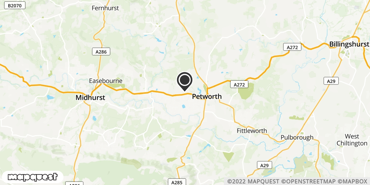 local map of watch repair drop off points in Petworth, West Sussex | Repairs by Post