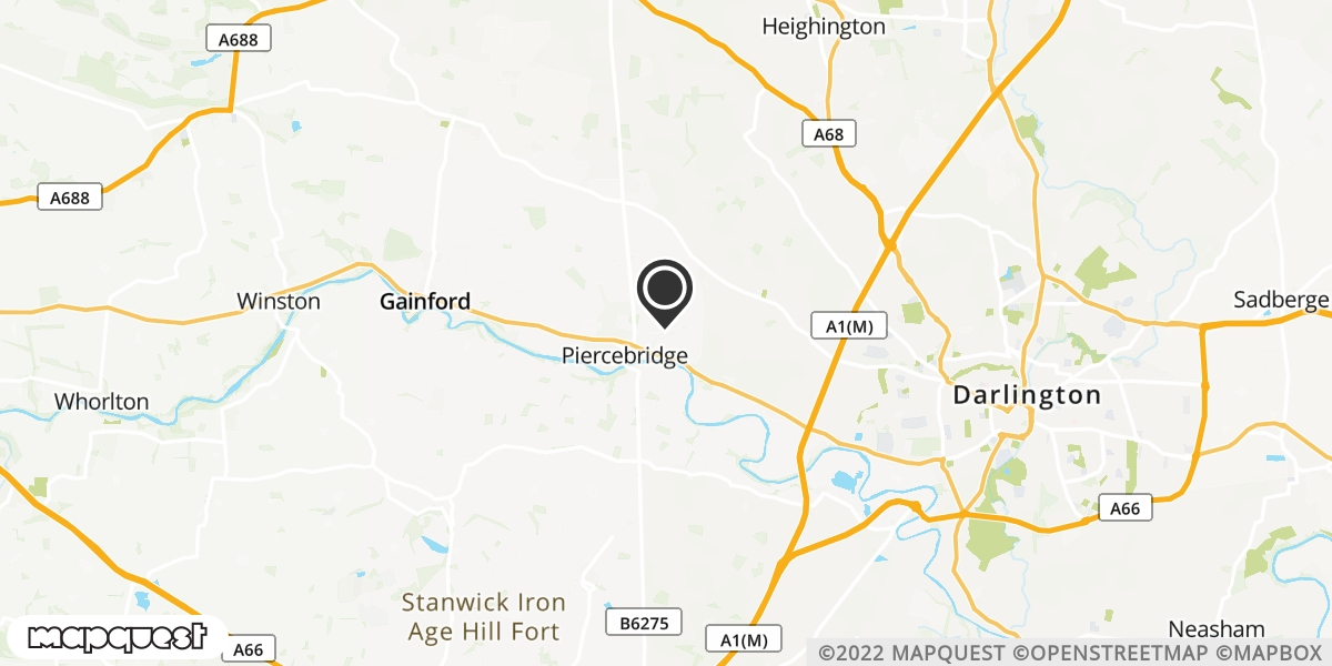 local map of watch repair drop off points in Piercebridge, County Durham   Repairs by Post