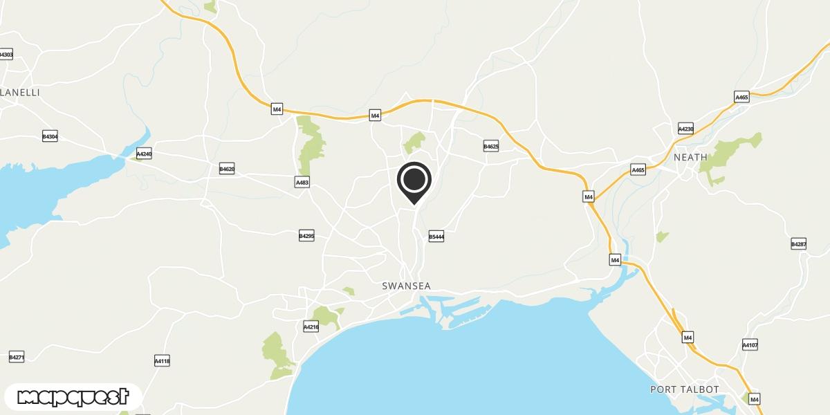 local map of watch repair drop off points in Plasmarl, Swansea   Repairs by Post