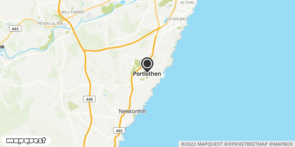 local map of watch repair drop off points in Portlethen, Aberdeenshire | Repairs by Post