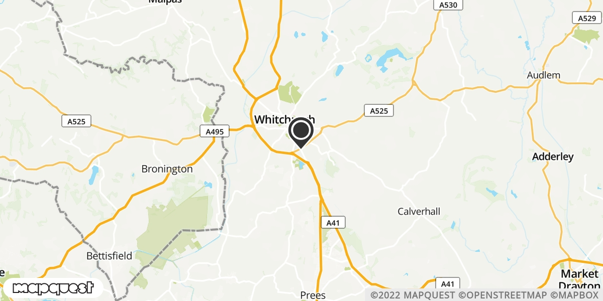 local map of watch repair drop off points in Prees, Shropshire | Repairs by Post