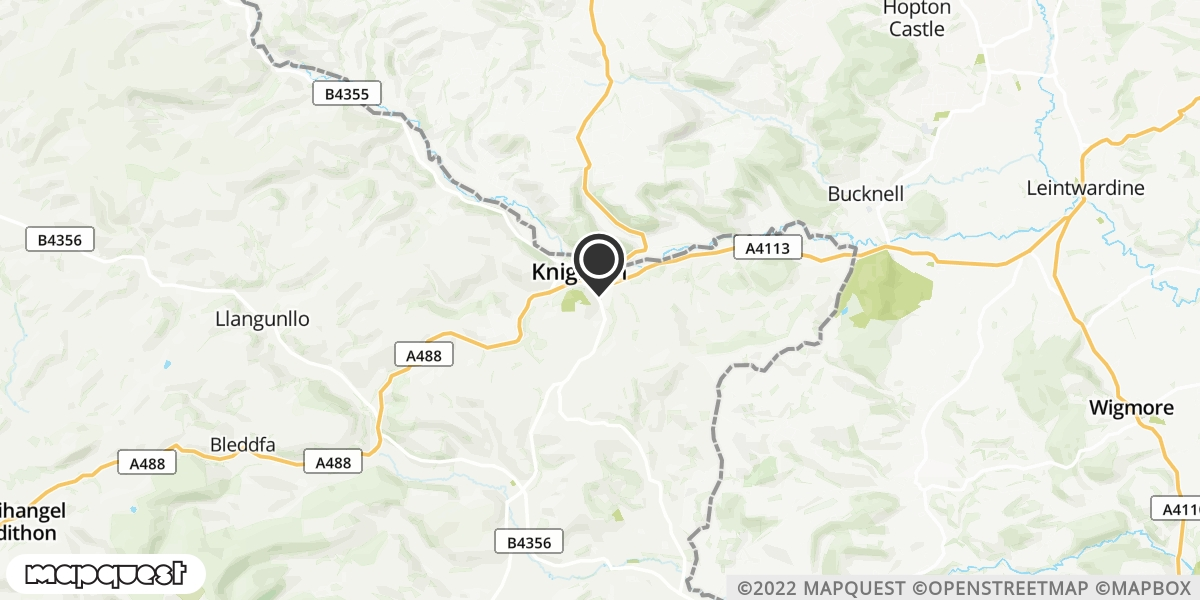 local map of watch repair drop off points in Presteigne, Powys | Repairs by Post