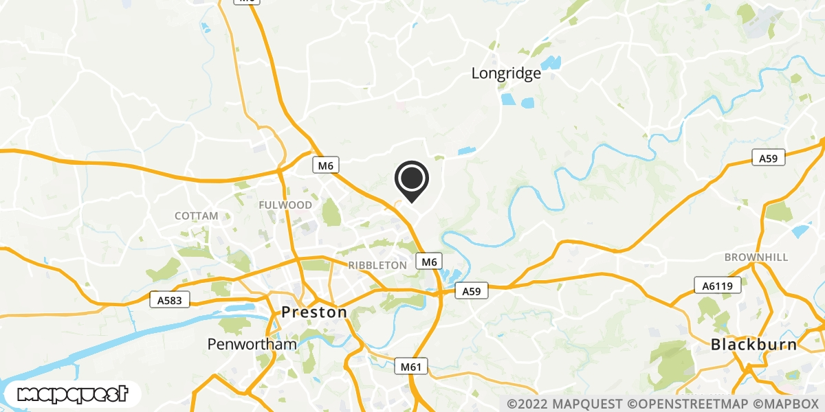 local map of watch repair drop off points in Preston, Lancashire   Repairs by Post