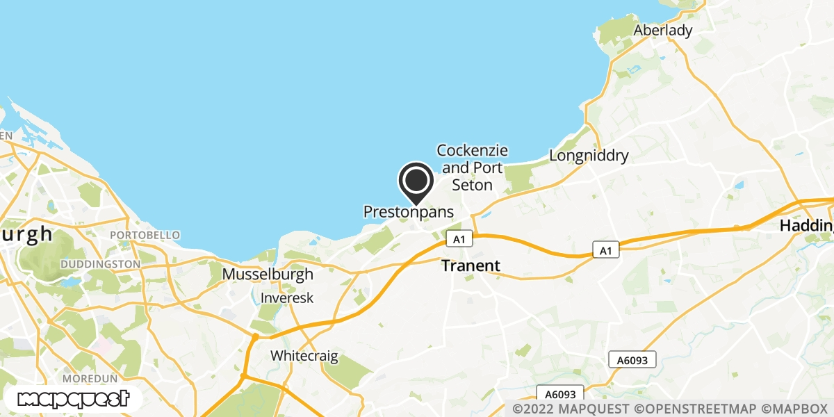 local map of watch repair drop off points in Prestonpans, Lothian | Repairs by Post