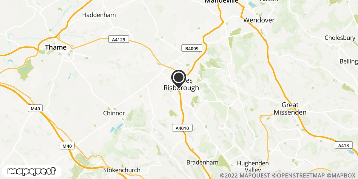 local map of watch repair drop off points in Princes Risborough, Buckinghamshire | Repairs by Post