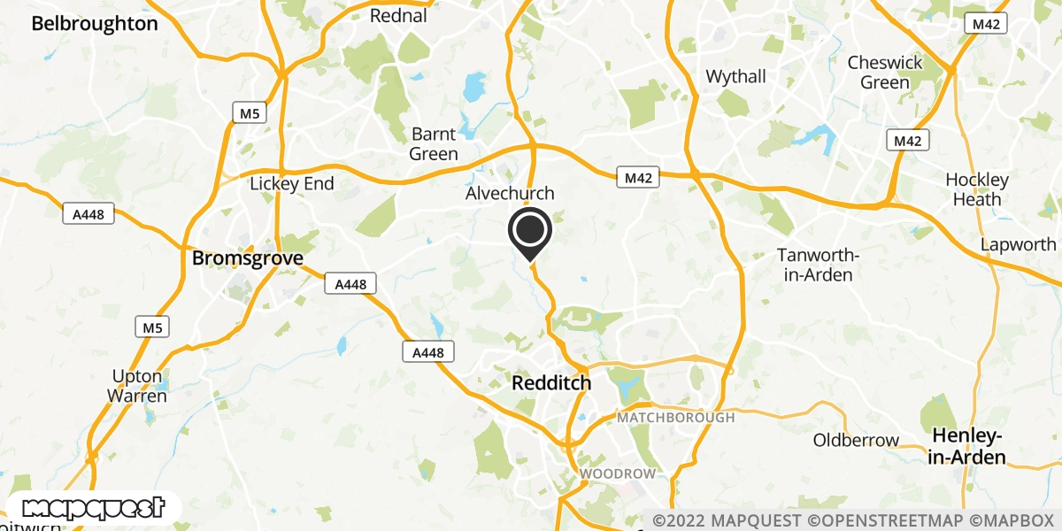 local map of watch repair drop off points in Redditch, Worcestershire | Repairs by Post