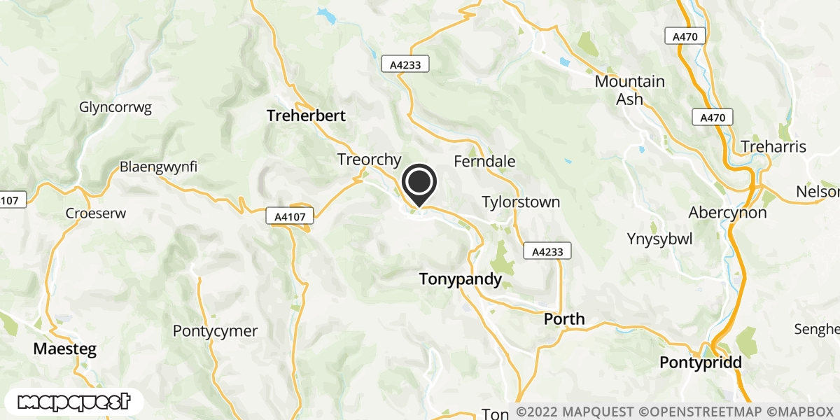 local map of watch repair drop off points in Rhonda Cynon Taff, Mid Glamorgan | Repairs by Post
