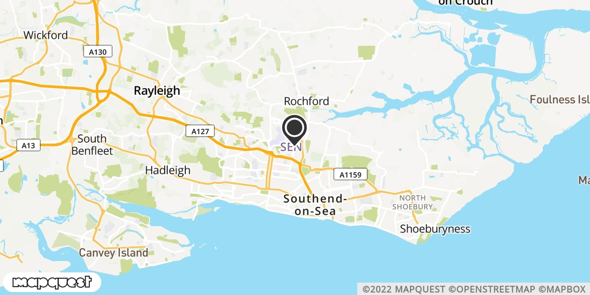local map of watch repair drop off points in Rochford, Essex | Repairs by Post