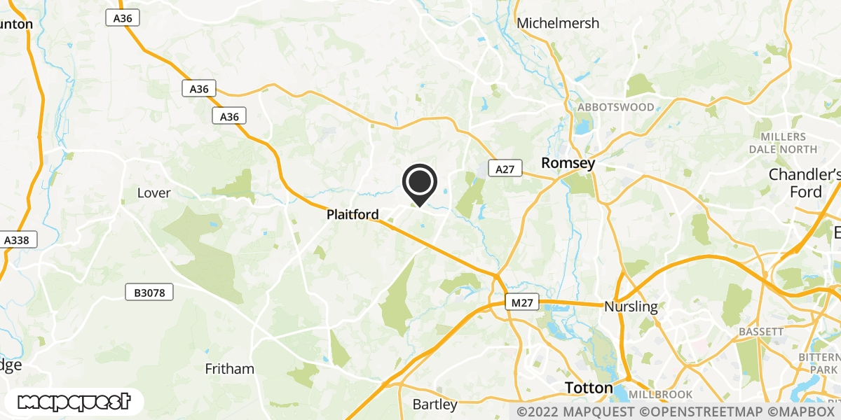 local map of watch repair drop off points in Romsey, Hampshire | Repairs by Post