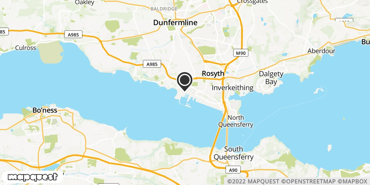 local map of watch repair drop off points in Rosyth, Fife | Repairs by Post