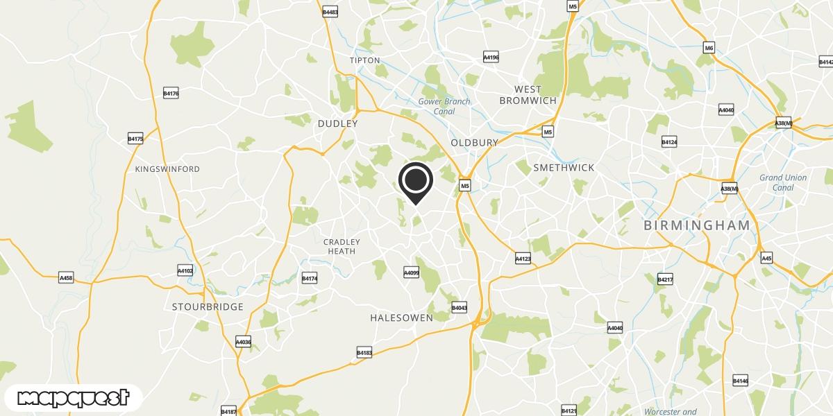 local map of watch repair drop off points in Rowley Regis, West Midlands | Repairs by Post