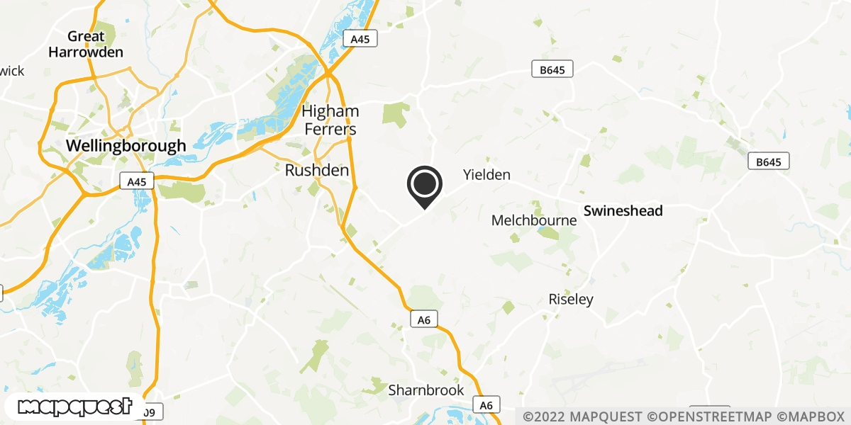 local map of watch repair drop off points in Rushden, Northamptonshire | Repairs by Post