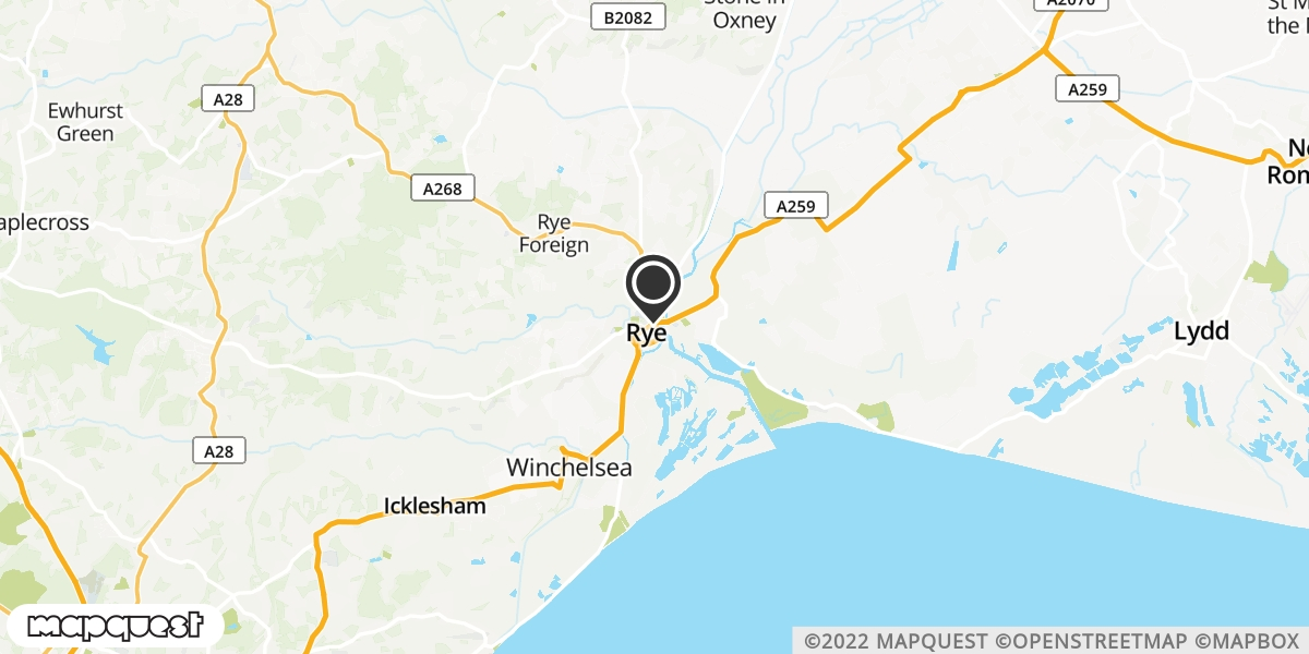 local map of watch repair drop off points in Rye, East Sussex | Repairs by Post