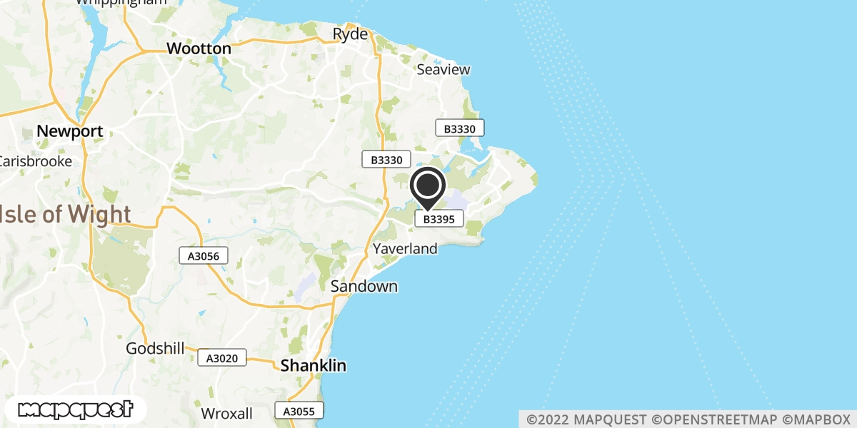 local map of watch repair drop off points in Sandown, Isle of Wight | Repairs by Post