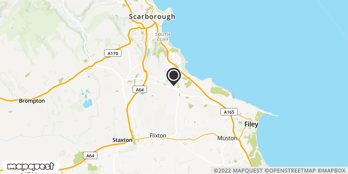 local map of watch repair drop off points in Scarborough, North Yorkshire | Repairs by Post
