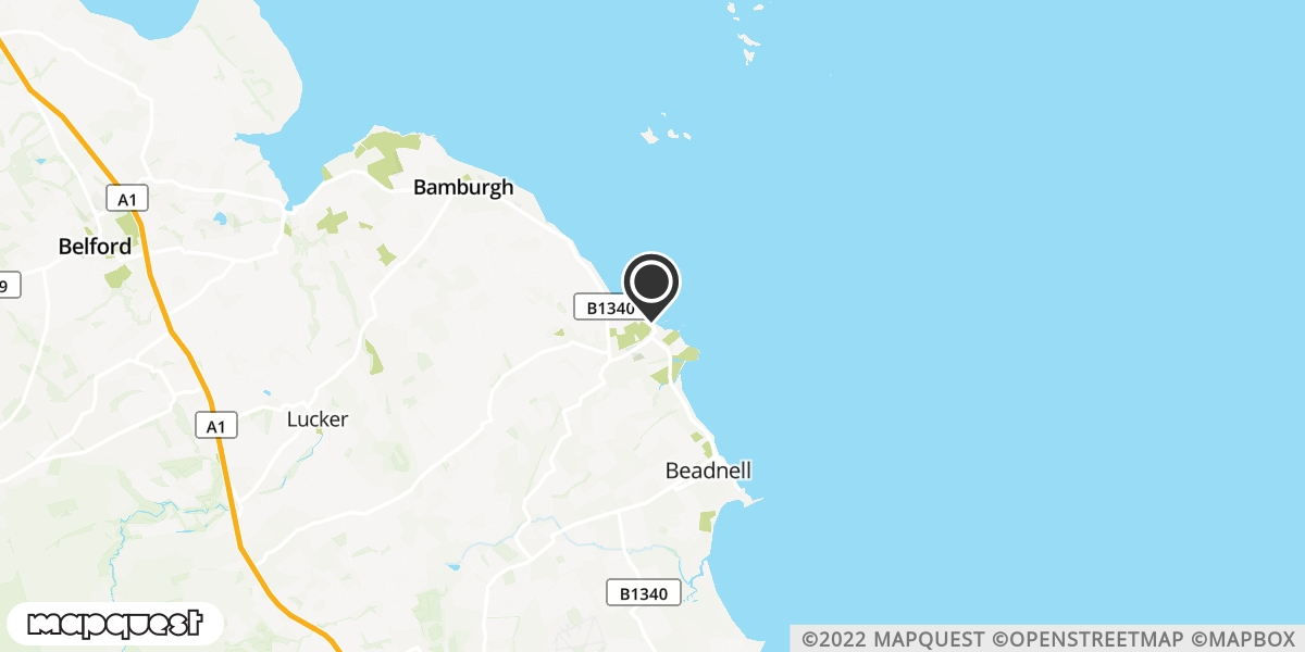 local map of watch repair drop off points in Seahouses, Northumberland   Repairs by Post