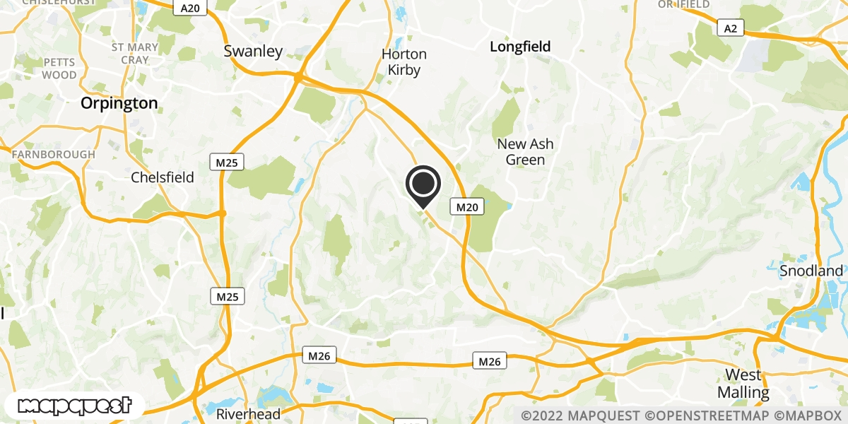 local map of watch repair drop off points in Sevenoaks, Kent | Repairs by Post