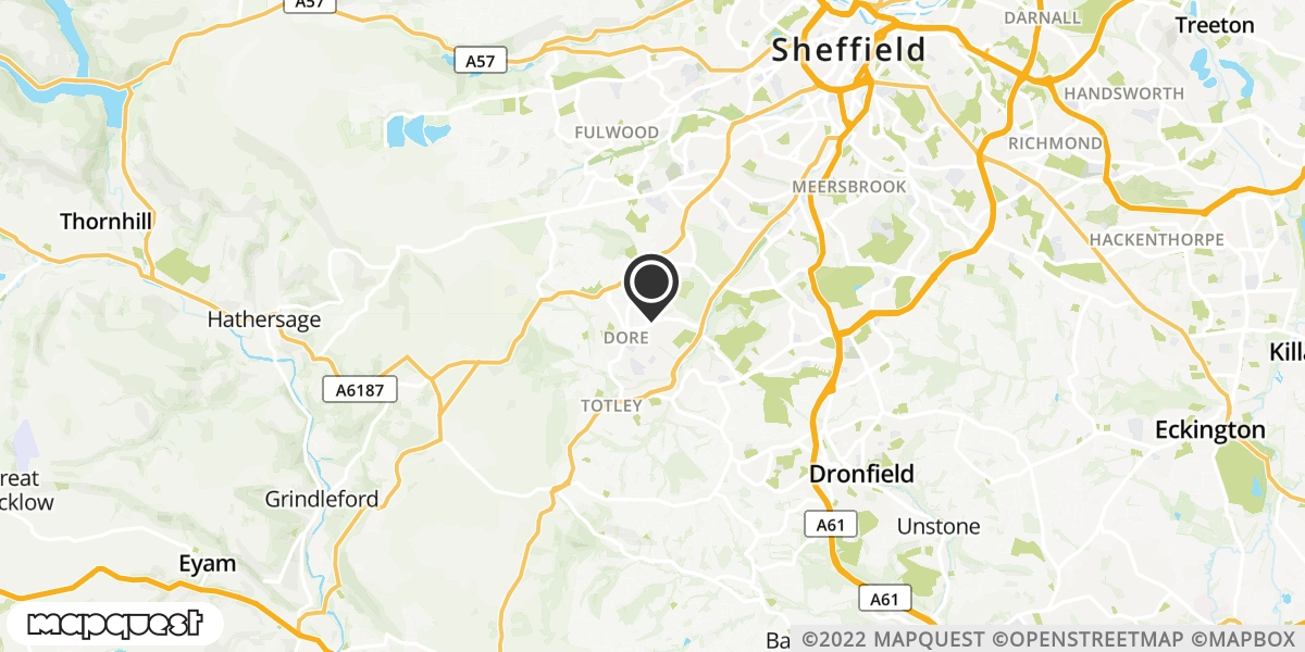 local map of watch repair drop off points in Sheffield, South Yorkshire | Repairs by Post