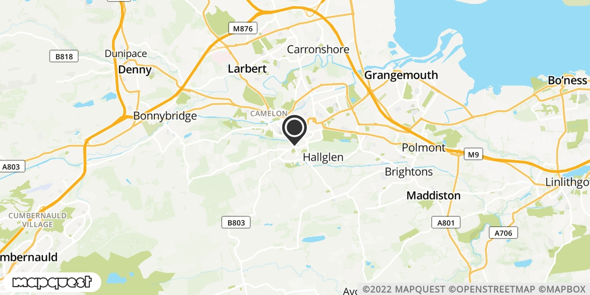 local map of watch repair drop off points in Slamannan, Falkirk | Repairs by Post