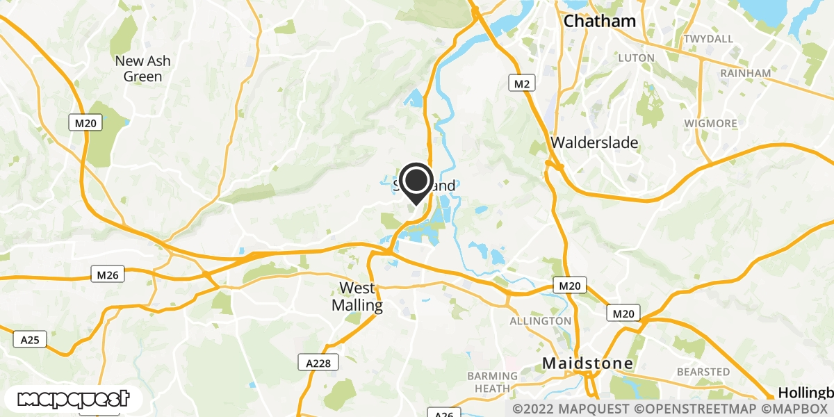 local map of watch repair drop off points in Snodland, Kent | Repairs by Post