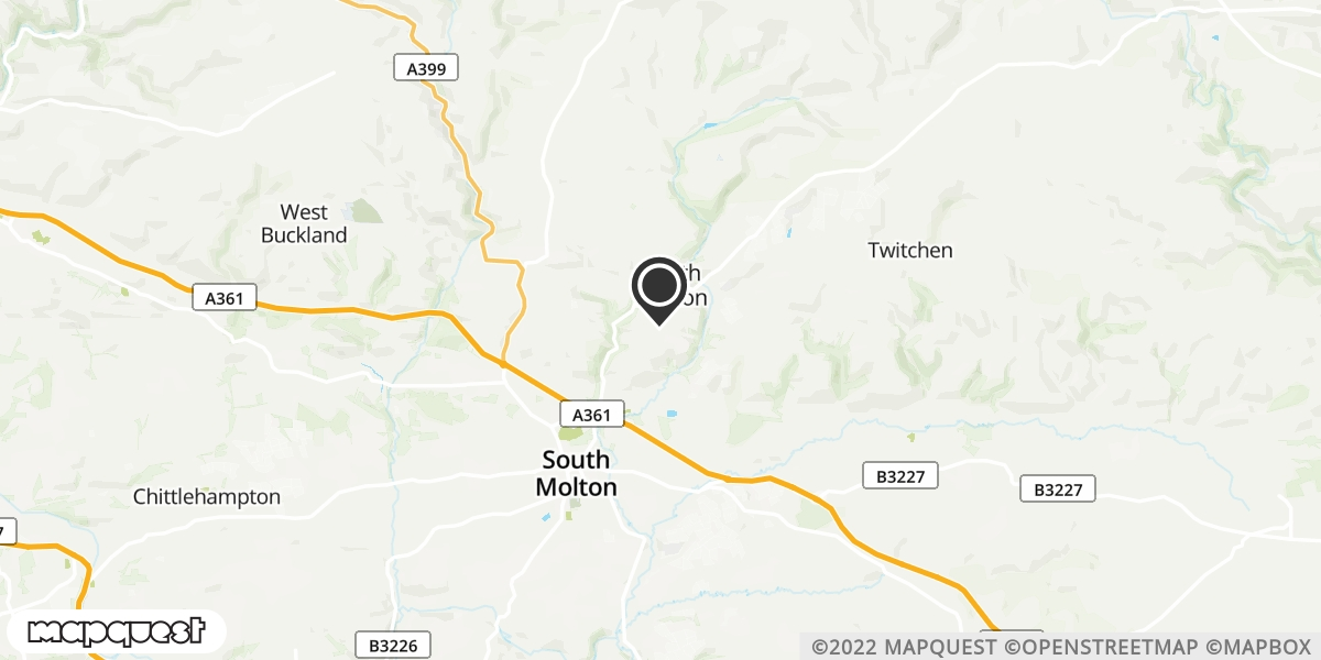 local map of watch repair drop off points in South Molton, Devon | Repairs by Post
