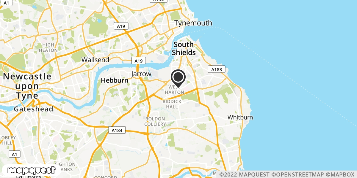 local map of watch repair drop off points in South Shields, Tyne and Wear | Repairs by Post