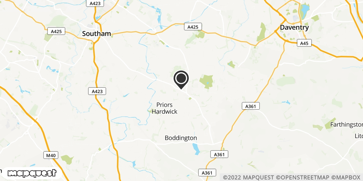 local map of watch repair drop off points in Southam, Warwickshire | Repairs by Post