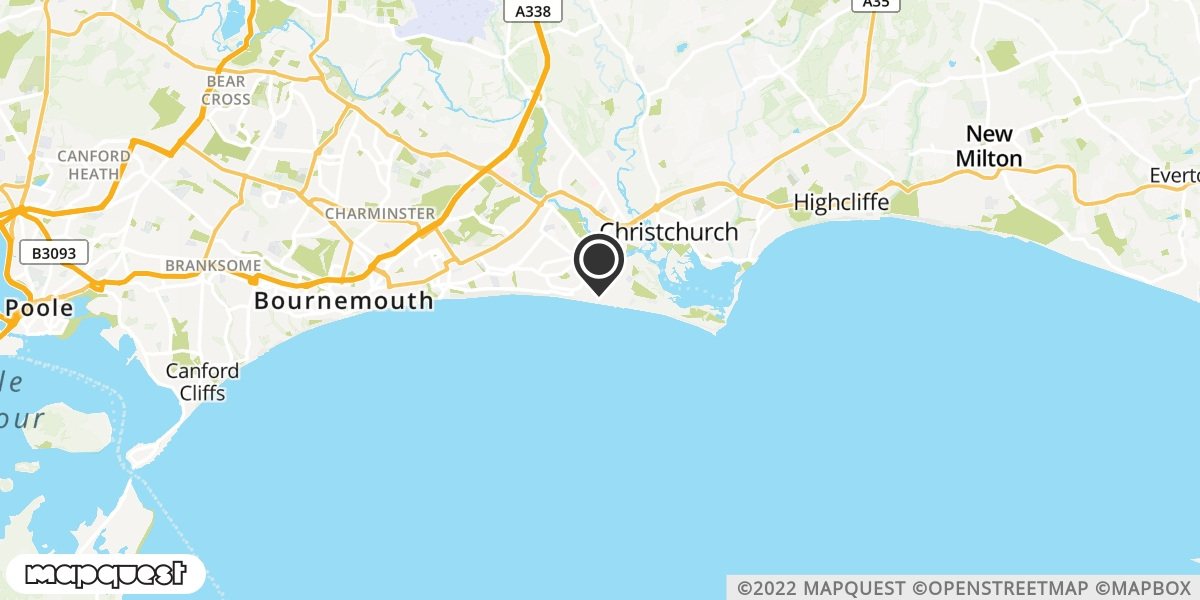 local map of watch repair drop off points in Southbourne, Dorset | Repairs by Post