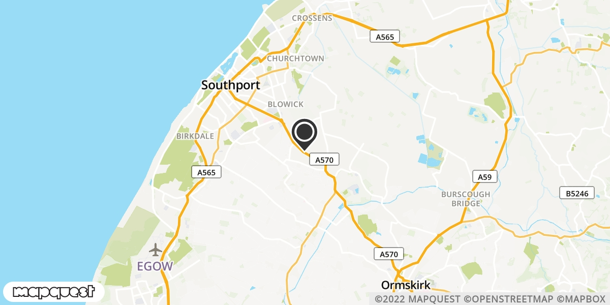 local map of watch repair drop off points in Southport, Merseyside | Repairs by Post