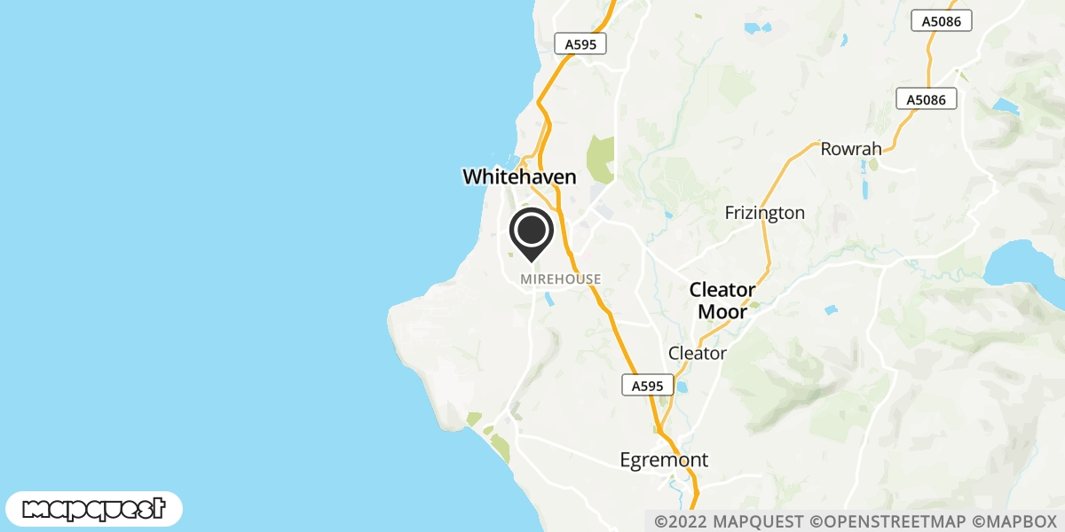 local map of watch repair drop off points in St Bees, Cumbria   Repairs by Post