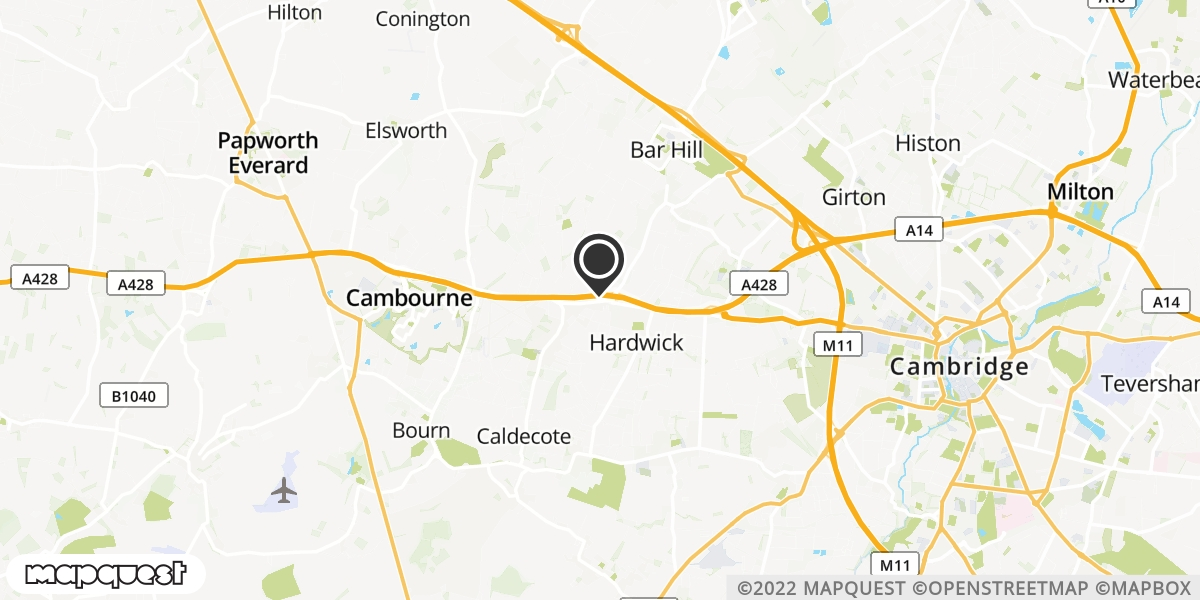 local map of watch repair drop off points in St Neots, Cambridgeshire | Repairs by Post