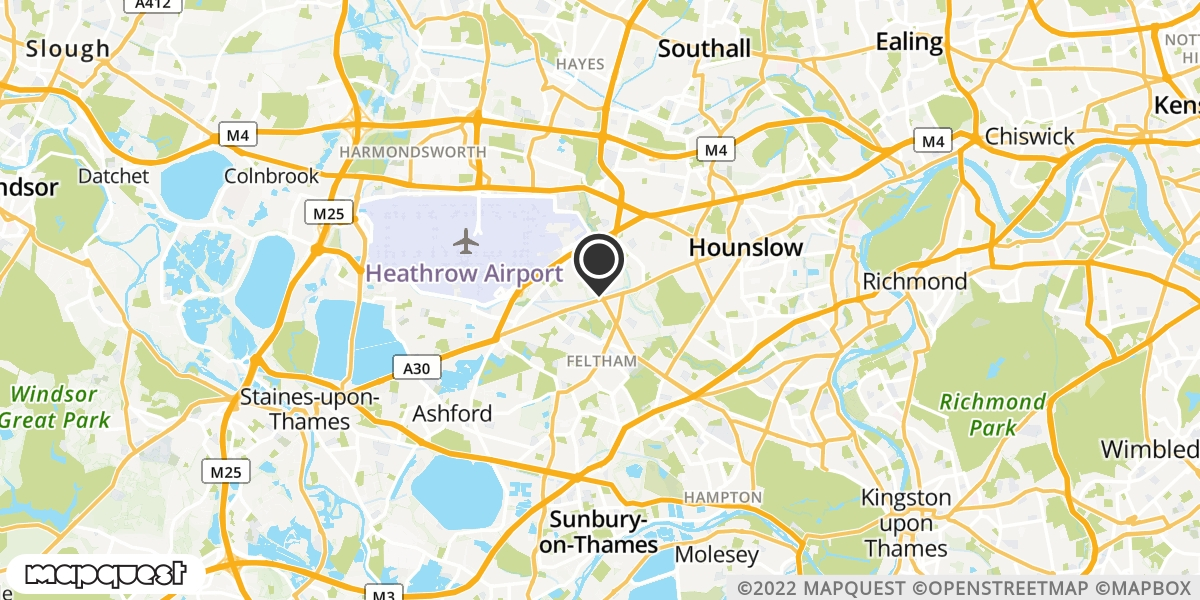 local map of watch repair drop off points in Staines, Middlesex | Repairs by Post