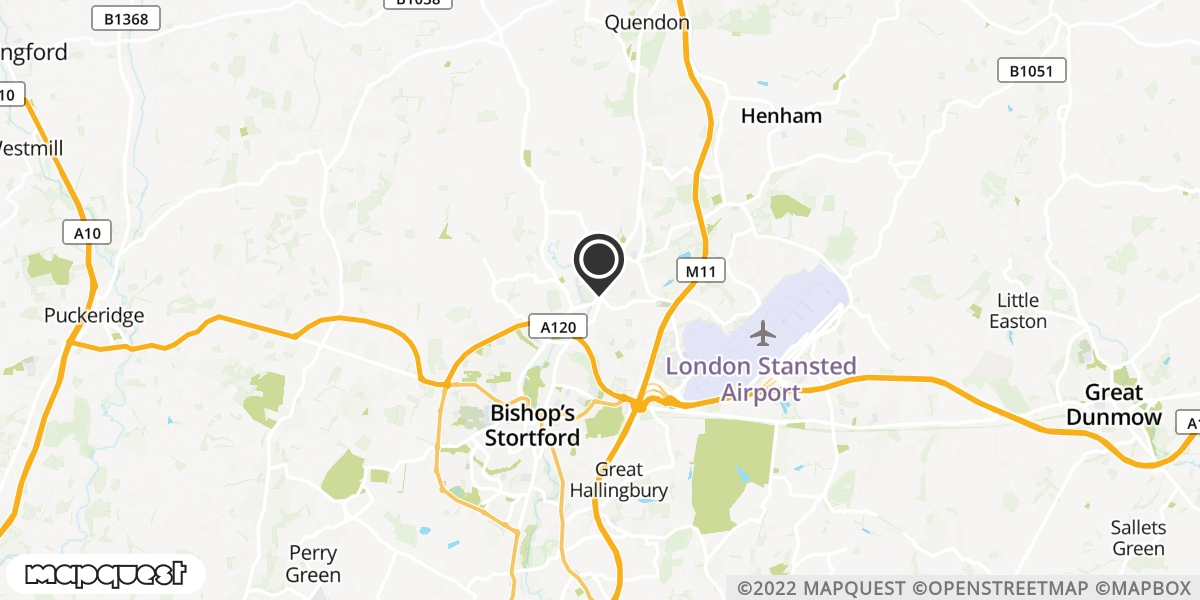 local map of watch repair drop off points in Stansted, Essex | Repairs by Post