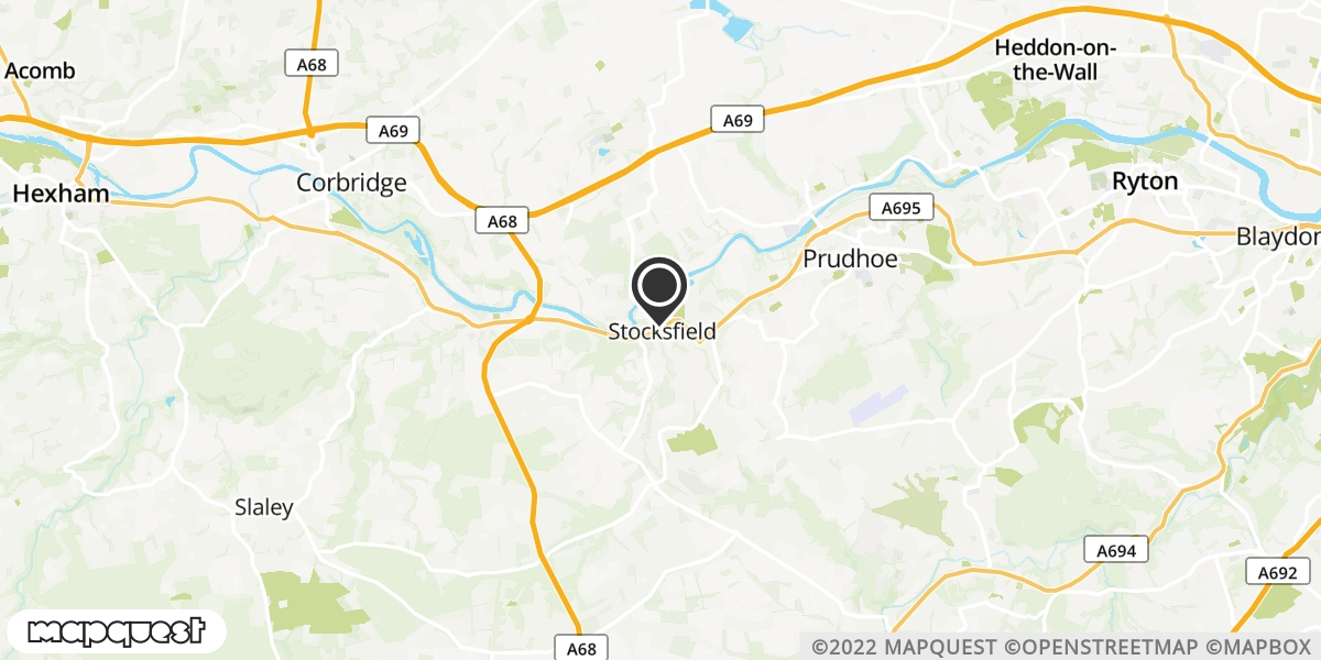 local map of watch repair drop off points in Stocksfield, Northumberland | Repairs by Post
