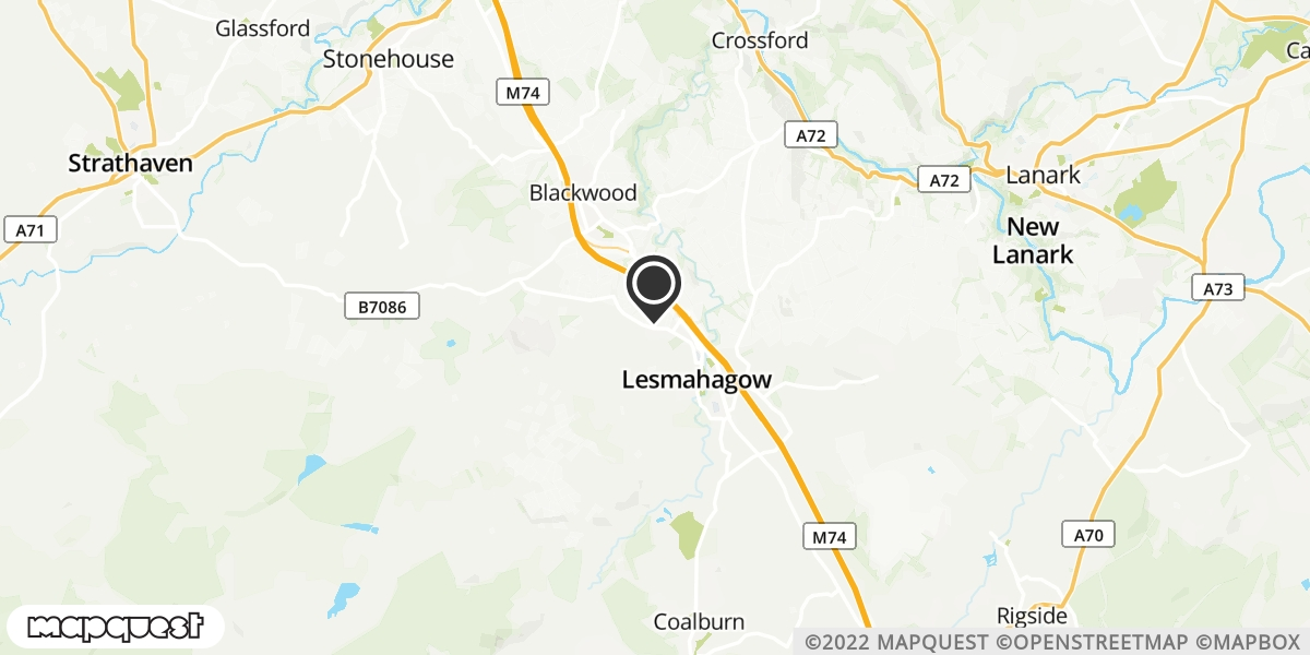 local map of watch repair drop off points in Strathaven, Lanarkshire | Repairs by Post