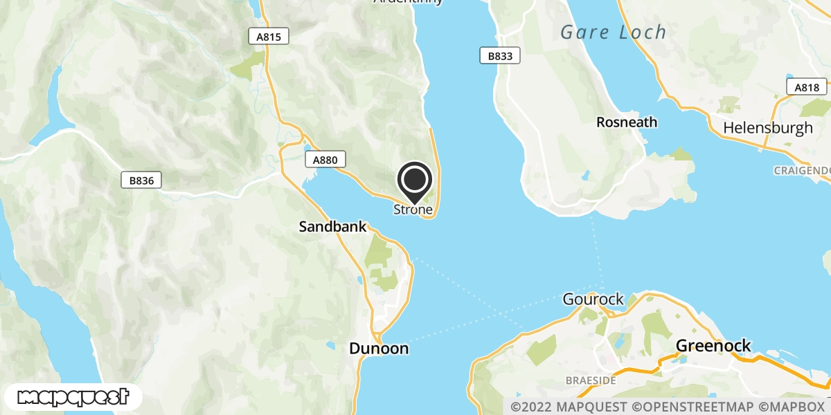 local map of watch repair drop off points in Strone, Argyll   Repairs by Post