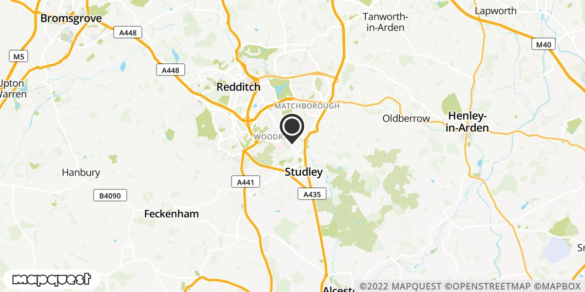 local map of watch repair drop off points in Studley, Warwickshire | Repairs by Post