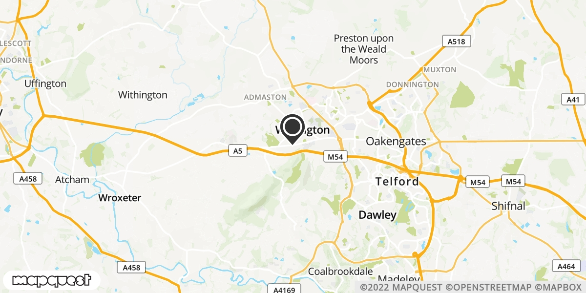 local map of watch repair drop off points in TELFORD, Shropshire | Repairs by Post