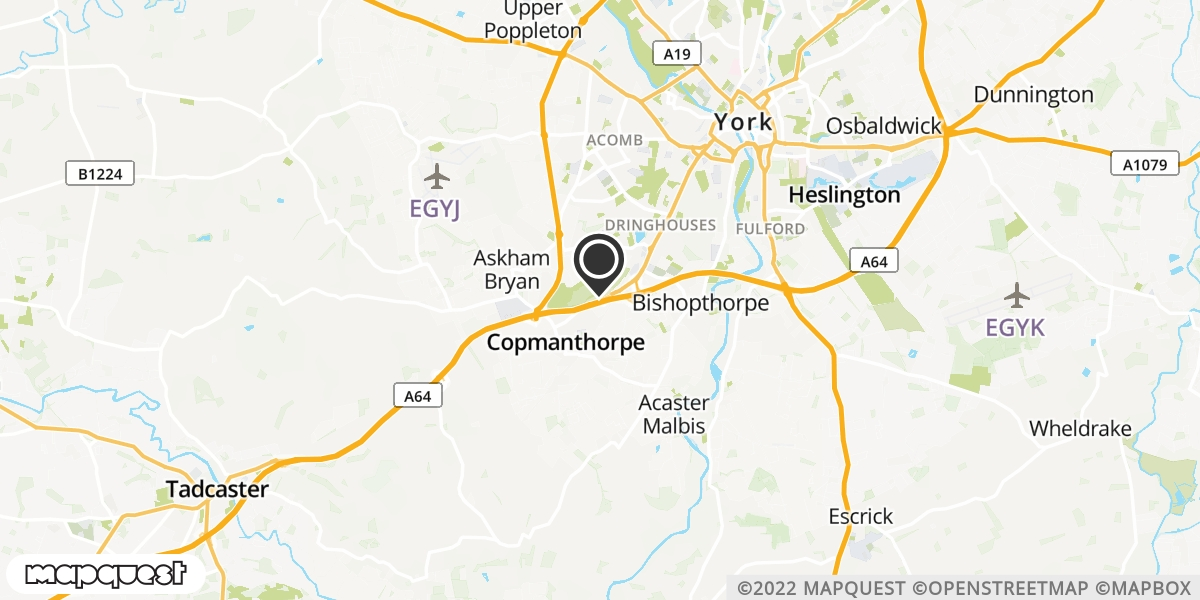local map of watch repair drop off points in Tadcaster, North Yorkshire | Repairs by Post