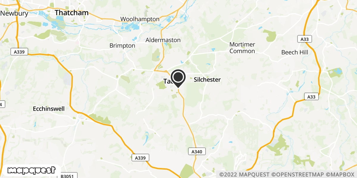 local map of watch repair drop off points in Tadley, Hampshire | Repairs by Post