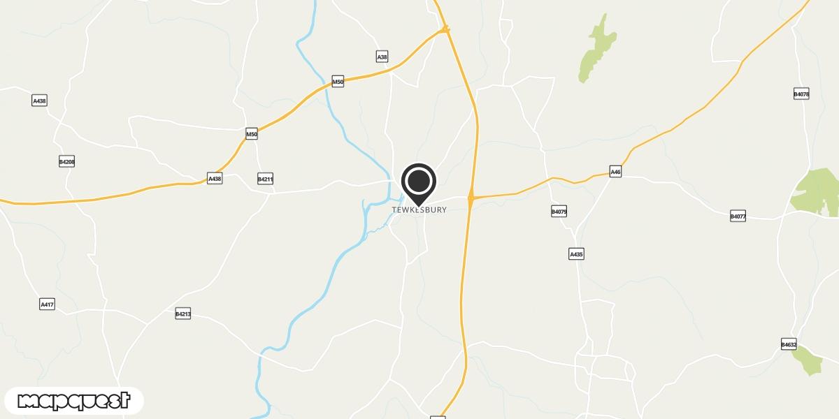 local map of watch repair drop off points in Tewksbury, Gloucestershire | Repairs by Post