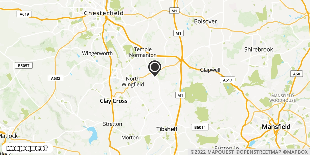 local map of watch repair drop off points in Tibshelf, Derbyshire | Repairs by Post