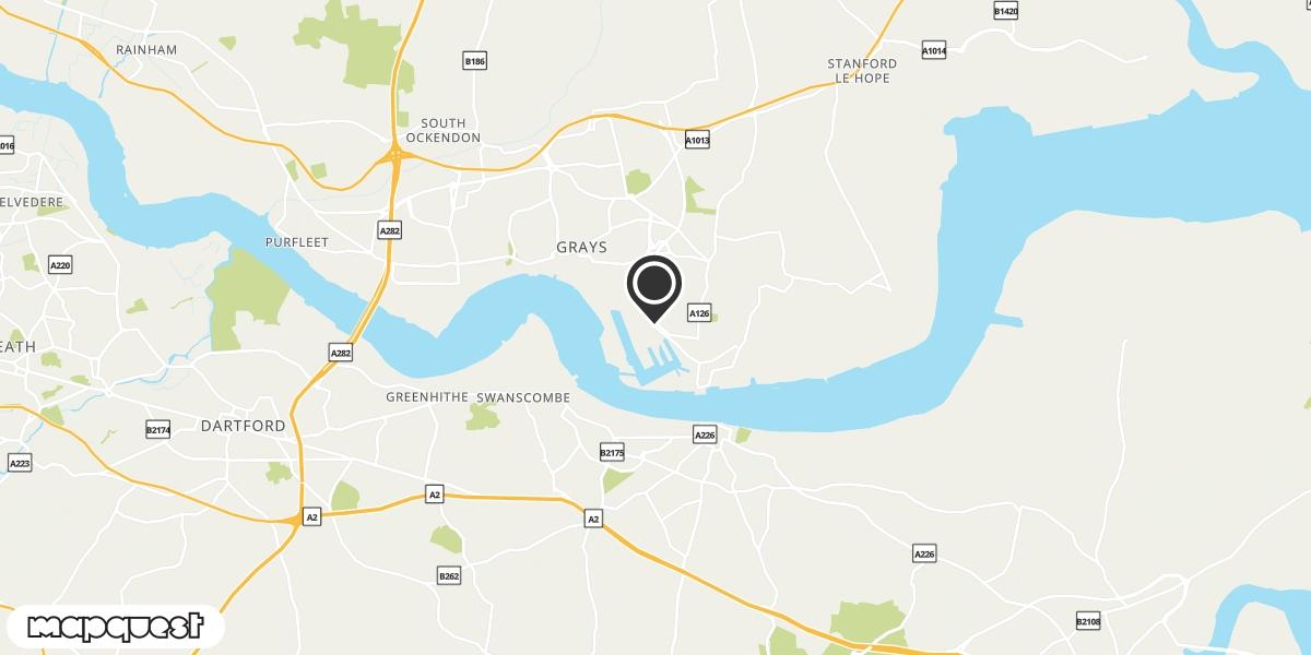 local map of watch repair drop off points in Tilbury, Essex | Repairs by Post