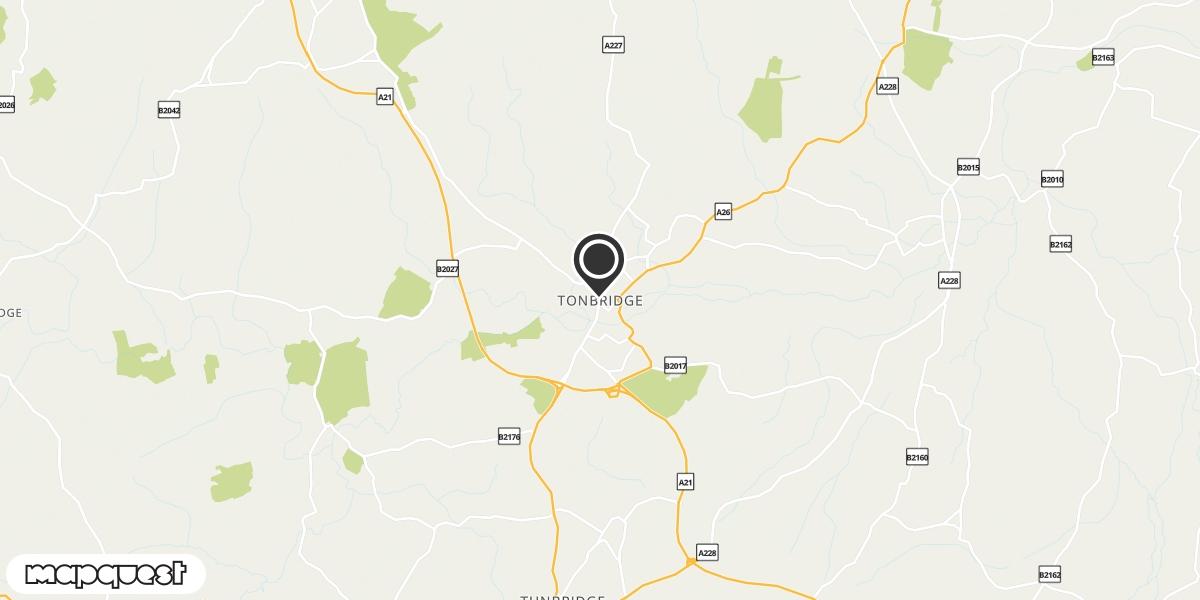 local map of watch repair drop off points in Tonbridge, Kent | Repairs by Post